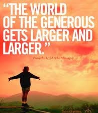 The world of the generous gets larger and larger.